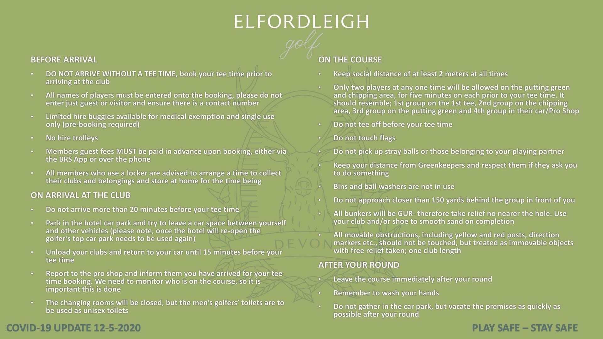 COVID-19 UPDATE ELFORDLEIGH
